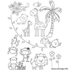 Coloriage Animaux Du Zoo dessin