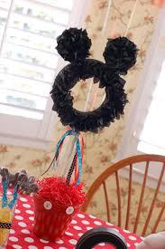 mickey ribbon mickey mouse ribbon and tissue party topiary centerpiece disney