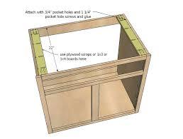 full overlay face frame cabinets amazing kitchen sink cabinet ana white kitchen cabinet sink base 36
