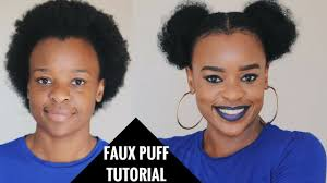 how to two faux puffs on short natural hair south african hair