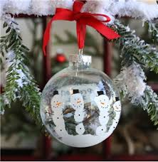 snow globe handprints ornament