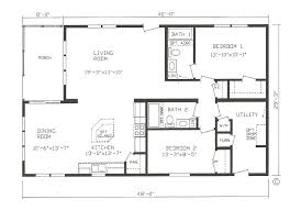 open floor home plans appealing 2 bedroom open floor house plans gallery best