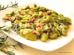 fèves fraîches aux lardons et à la sarriette la recette gustave