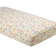 organic nature trail fitted crib sheet the land of nod