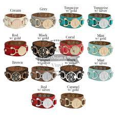 monogrammed cuff bracelet monogram cuff bracelet cuff bracelet personalized faux leather