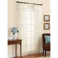 Brown And Ivory Curtains Better Homes And Gardens Embroidered Sheer Curtain Panel Walmart Com