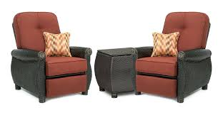 Patio Furniture Set by Breckenridge Red 3 Pc Patio Furniture Set Two Recliners U0026 Side