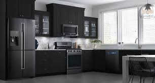 gray kitchen cabinets with black stainless steel appliances 11 ways to introduce black into your kitchen kitchen