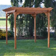 Swing Pergola A U0026 L Furniture Western Red Cedar Swing Pergola Hayneedle