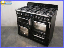 Smeg 110 Gloss Black Induction Chrome Home Cooker Ebay