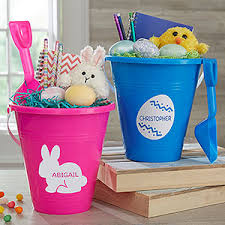 monogrammed easter buckets personalized easter buckets easter characters