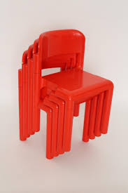 red plastic chairs by eero aarnio for upo 1970s set of 4 for