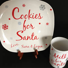etsy roundup cookie plates for santa