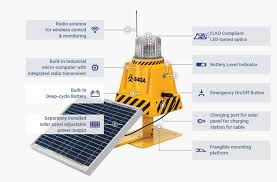 solar powered runway lights airport lighting system solar agl system s4ga