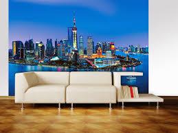 skyline wall mural dm135 shanghai skyline wall mural dm135