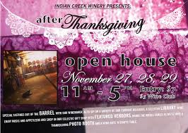 after thanksgiving open house