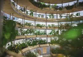 the growroom is a spherical farm pod that brings food producing
