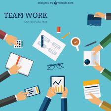 team work template free vector 123freevectors