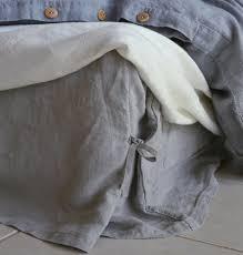 light grey bed skirt stonewashed linen bed skirt light grey