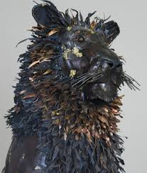 metal lion sculpture made to order custom metal outdoor lion sculpture created by