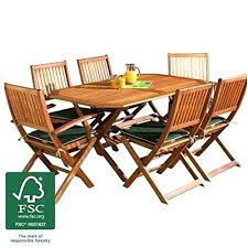 6 Seat Patio Table And Chairs 6 Seater Wooden Garden Furniture Exhort Me