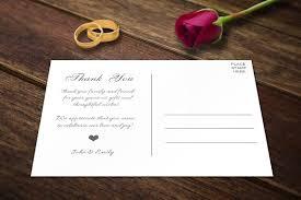 wedding thank you postcards template card templates creative