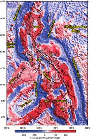 Declination Map Free Air Gravity Anomaly Map In The Philippines Black Lines