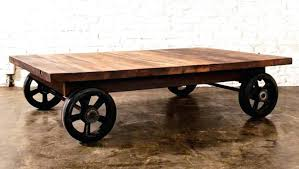 Rustic Coffee Table On Wheels Coffee Table On Wheels Rustic Coffee Table With Wheels