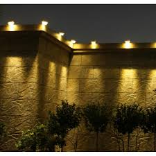 solar powered led fence light outdoor garden wall lobby pathway