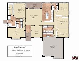 3 Bedroom Colonial House Plans Elegant 3 Bedroom 3 Bath House