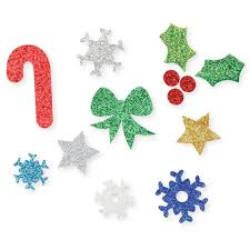 christmas stickers foam glitter christmas stickers bumper pack cleverpatch