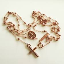rosary bead necklace jewelry images 9ct rose gold rosary beads necklace italy jpg