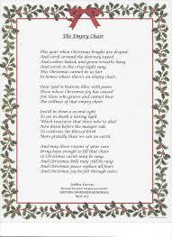 Empty Chair Poem Grethen Cahrenger Memorials Home Facebook
