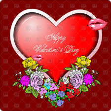 valentine s day greeting card heart shaped frame ornate with