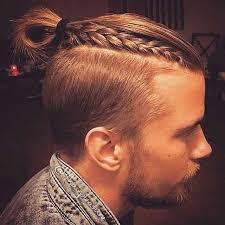 the man bun braids a surprising new men u0027s hair trend