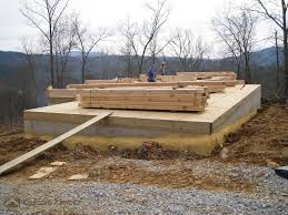 sill plate subfloor and log stack custom timber log homes