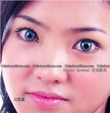 triple blue color contact lens pair color contact lens b3