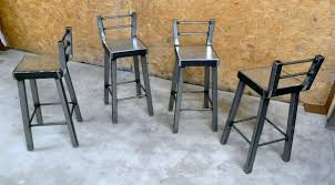 industrial metal bar stools with backs industrial metal furniture astounding 4 industrial metal bar stools