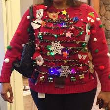 ugly christmas sweater with lights wow not figure flattering ugly christmas sweaters top10 ugly
