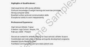awesome athletic trainer resume photos simple resume office