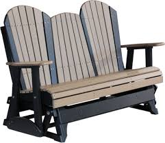 Poly Wood Adirondack Chairs Luxcraft Poly 5ft Adirondack Style Glider Swingsets Luxcraft