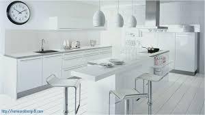 cuisine équipée blanc laqué idée plan de travail cuisine frais cuisine equipee blanc laque