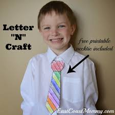 east coast mommy alphabet crafts letter n