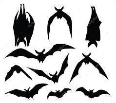 bat silhouette u2014 stock vector mtkang 3760290
