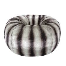grey chinchilla faux fur beanbag by helen moore