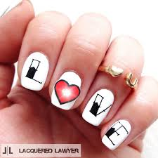 lacquered lawyer nail art blog my beating heart