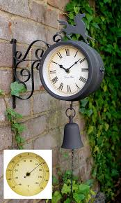 Patio Clock And Thermometer Sets by Amazon Com Horse And Bell Clock With Thermometer 18 7in