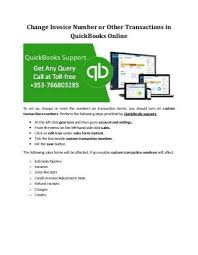 reset quickbooks online change invoice number or other transactions in quickbooks online