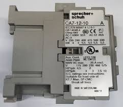 sprecher u0026 schuh ca7 12 10 120 contactor 12amp 3pole 110 120v