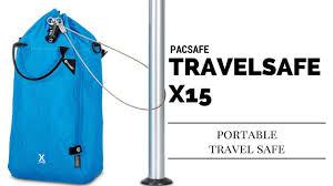 Pacsafe travelsafe x15 portable travel safe